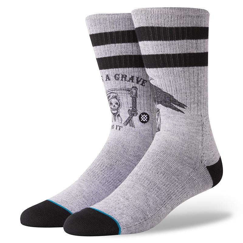 Stance Lifes A Grave Socks Grey