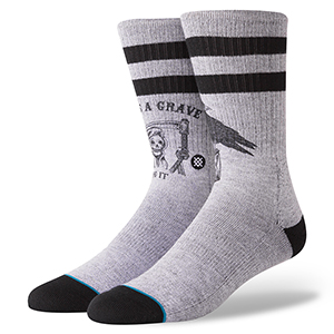 Stance Lifes A Grave Socks Grey