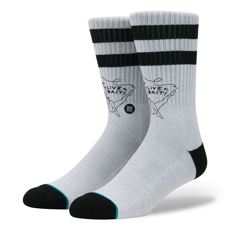 Stance Live Bait Socks Grey