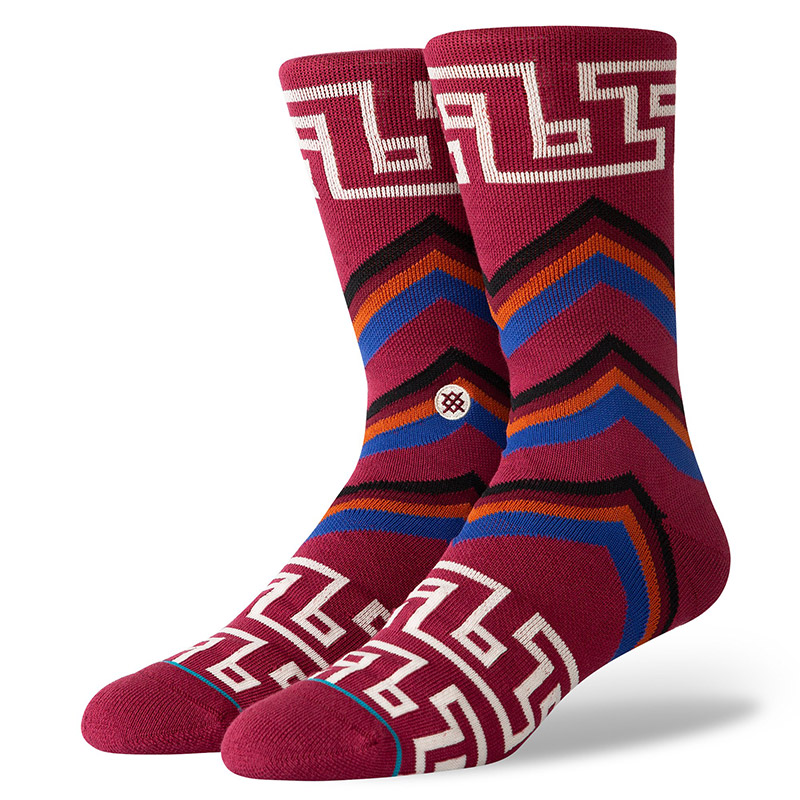 Stance Macao Socks Maroon