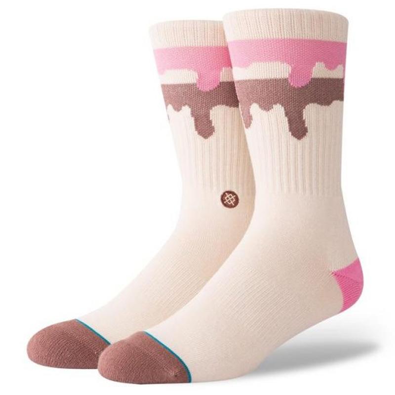 Stance Melt Down Socks Natural