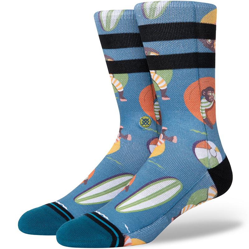 Stance Monkey Chillin Socks Teal