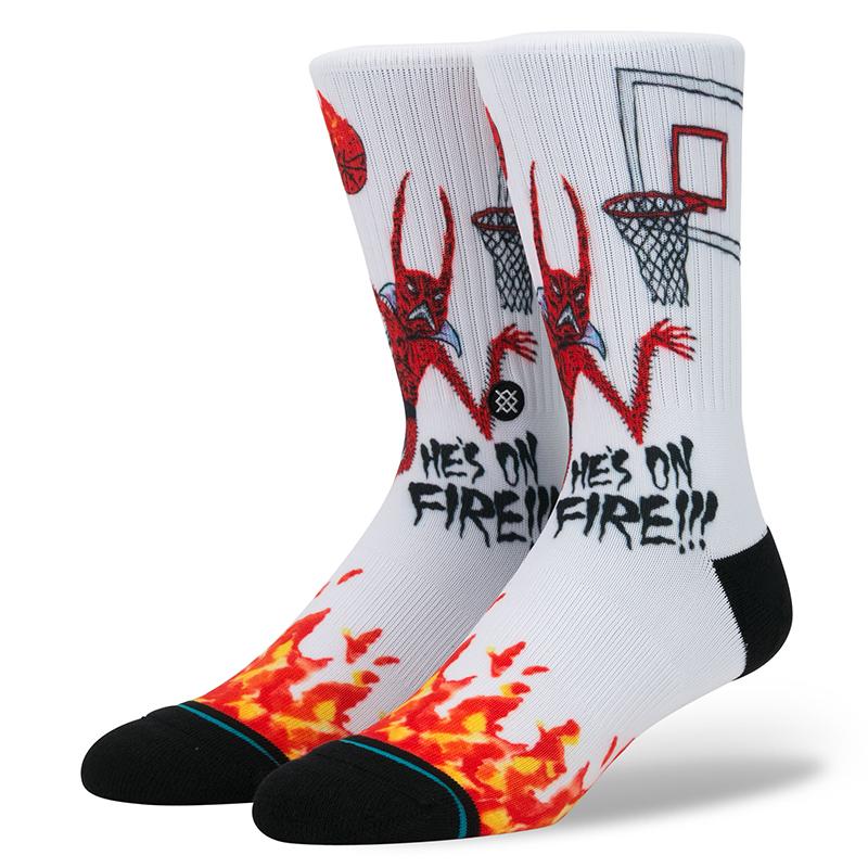 Stance Neckface On Fire Socks White