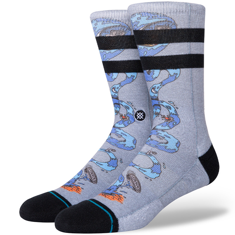 Stance Party Wave Socks Grey