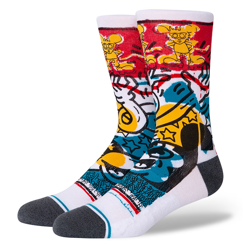 Stance Primary Haring Socks White