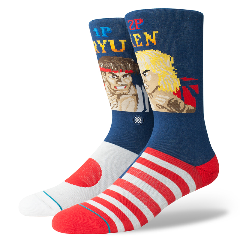 Stance Ryu Vs Ken Socks Socks Navy