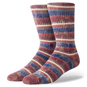 Stance Sarthe Socks Maroon