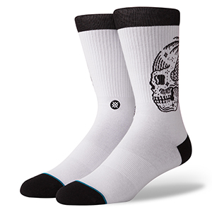 Stance Skull Palm Socks White