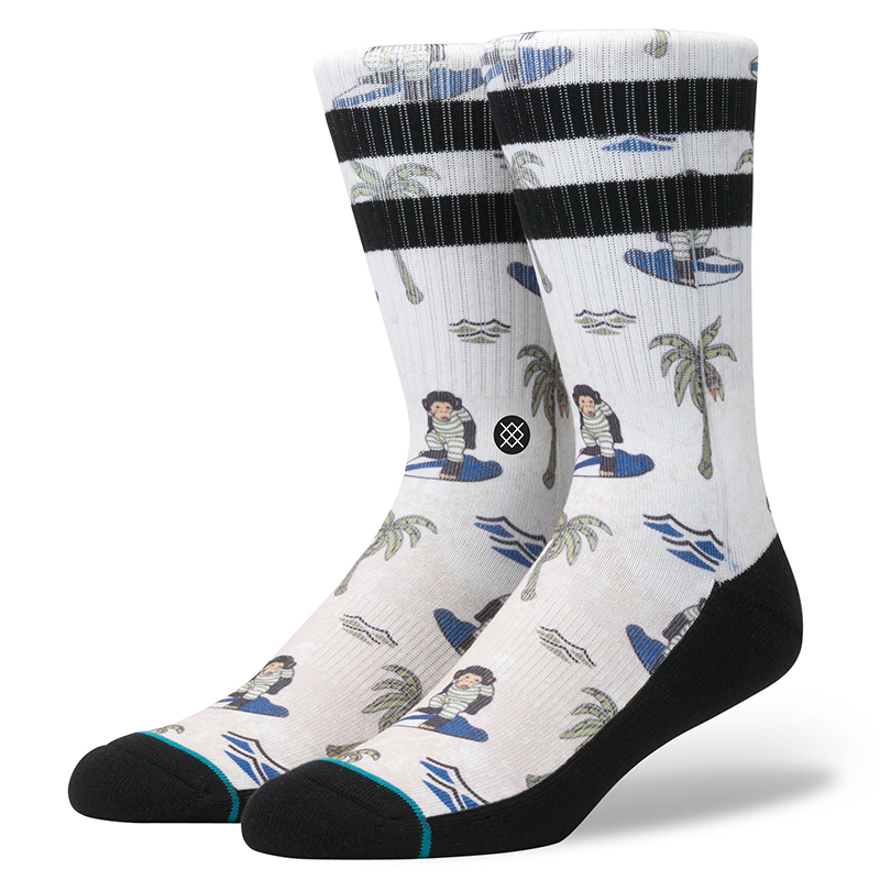 Stance Surfin' Monkey Socks Tan