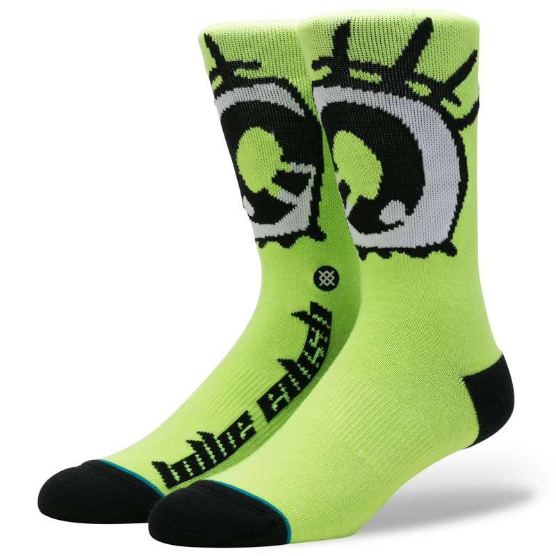 Stance X Billie Eilish Anime Eyes Socks Neon Green