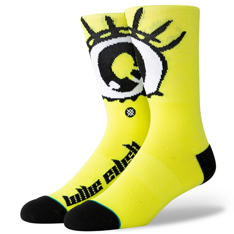 Stance X Billie Eilish Anime Eyes Socks Neon Yellow