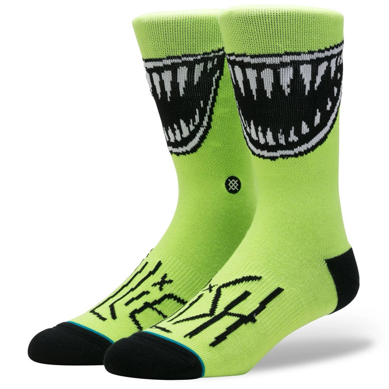 Stance X Billie Eilish Grin Socks Neon Green