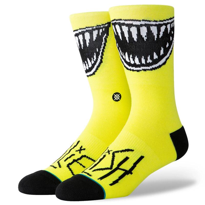 Stance X Billie Eilish Grin Socks Neon Yellow