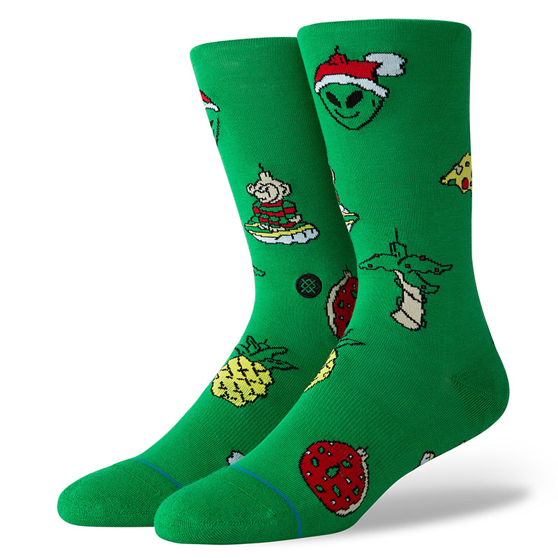 Stance Xmas Ornaments Socks Green