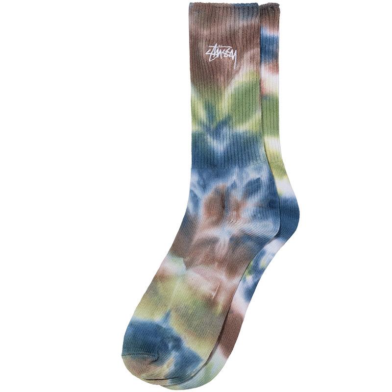 Stussy Earth Dye Crew Socks Olive