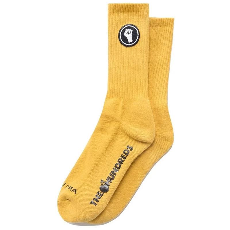 The Hundreds Unity Crew Socks Gold