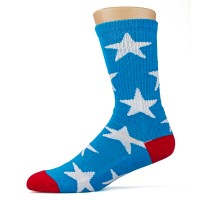 Tired Stars Socks Blue