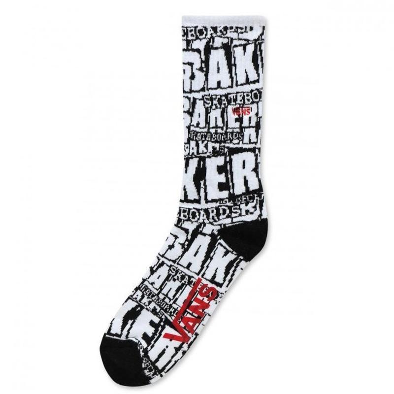 Vans X Baker Crew Socks White Baker