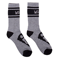 Welcome Saberskull Socks  Heather Grey One Size