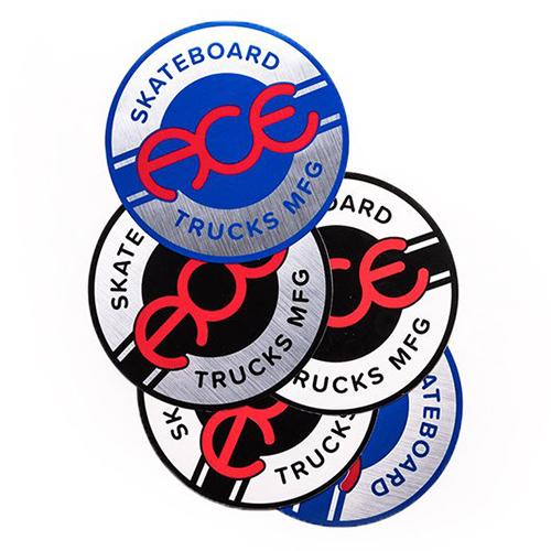 Ace Round Logo Sticker 4 Inch