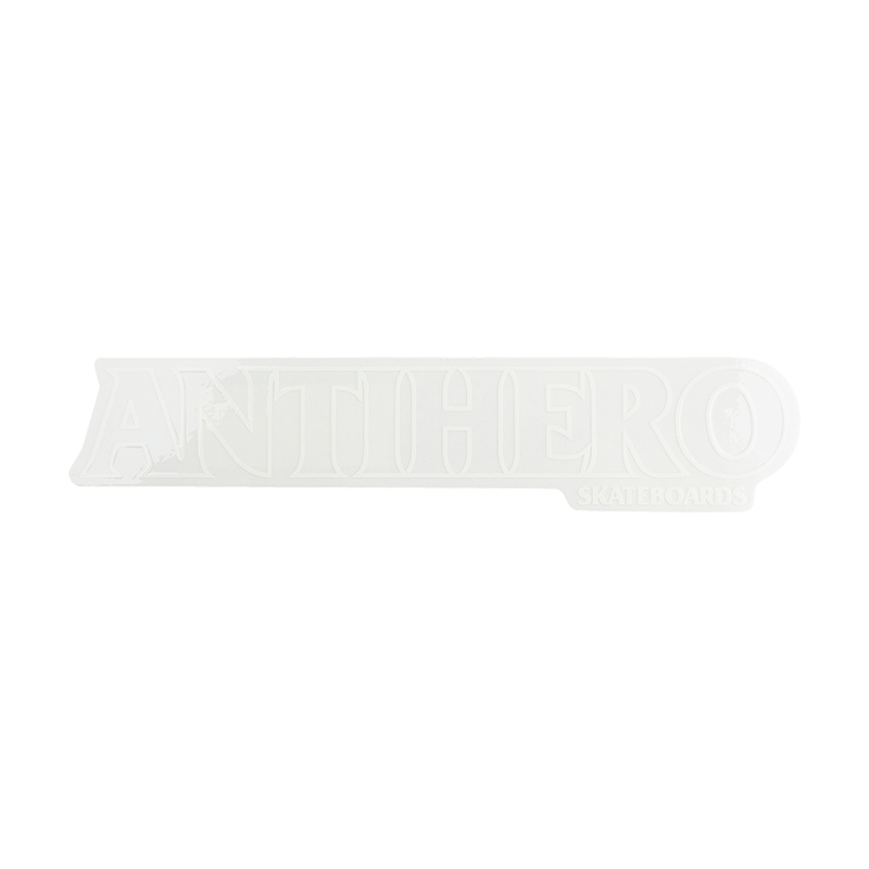 Anti Hero Long Blackhero Sticker White Outline M