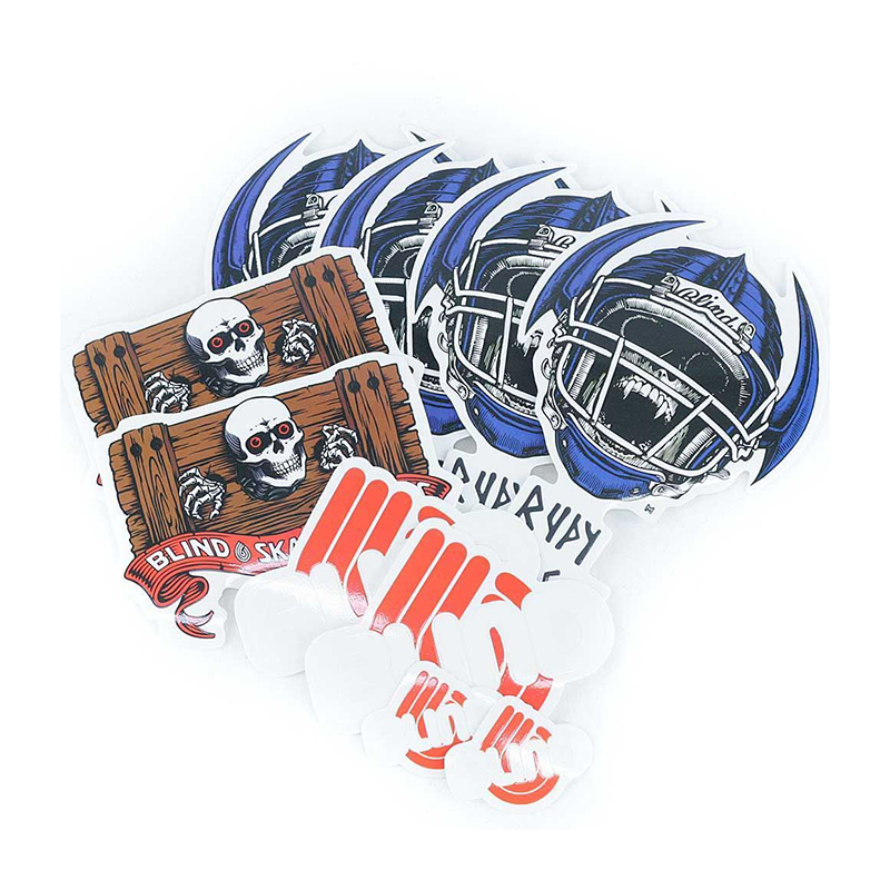 Blind Johnson Jock Skull Stickers 10-pack