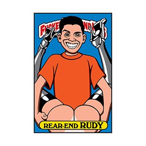 Blind Rear End Rudy Sticker