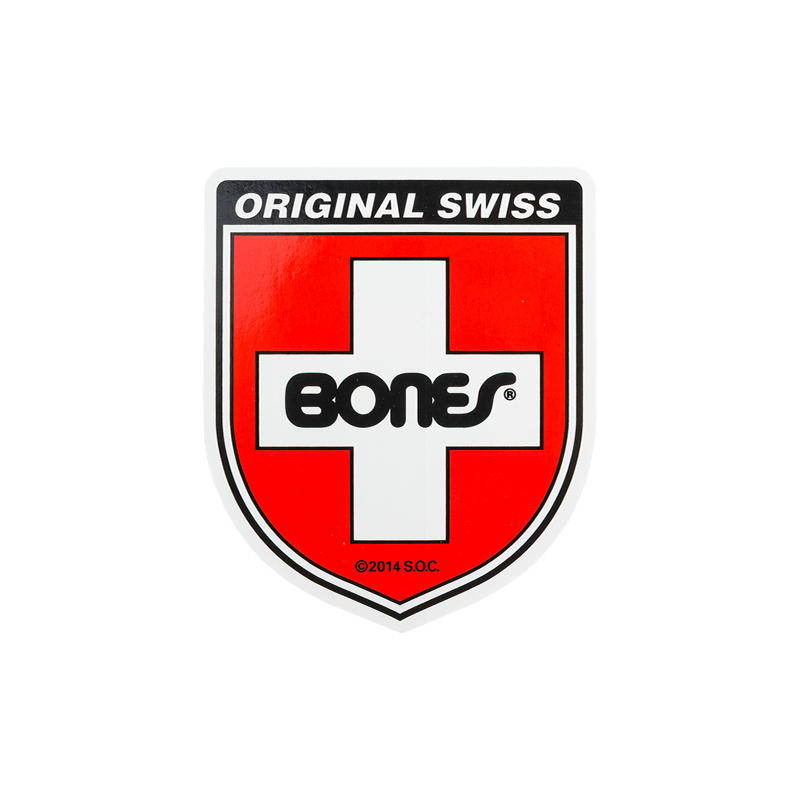 Bones Swiss Shield Sticker S 2 Inch