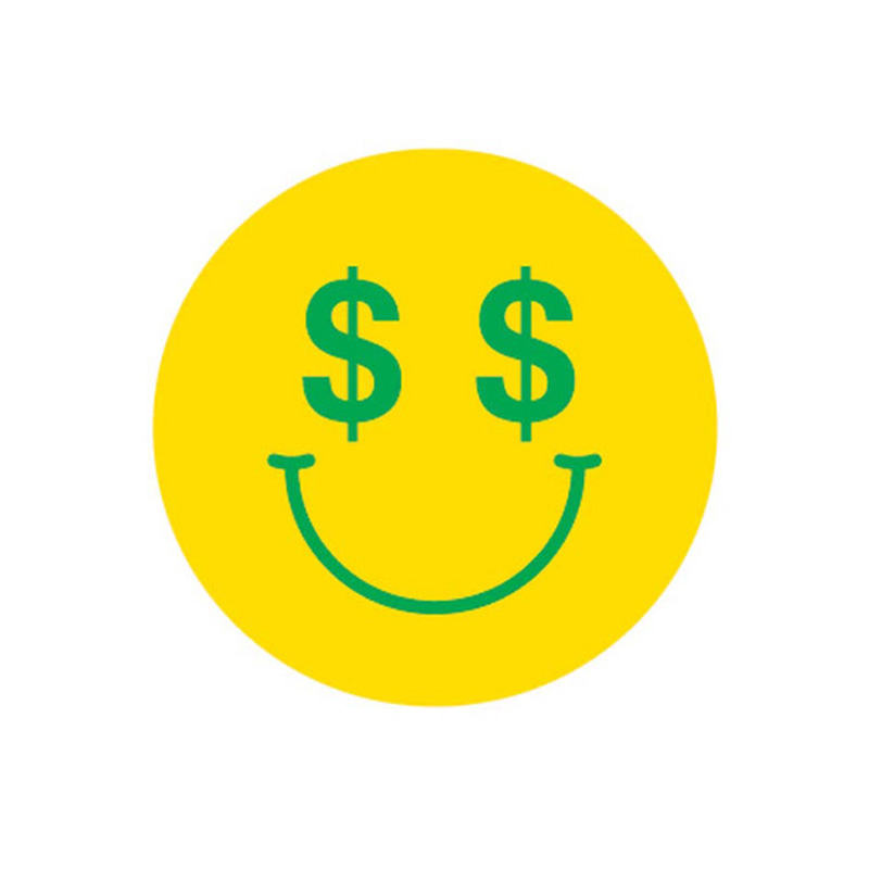 Enjoi Cash Money Sticker Yellow