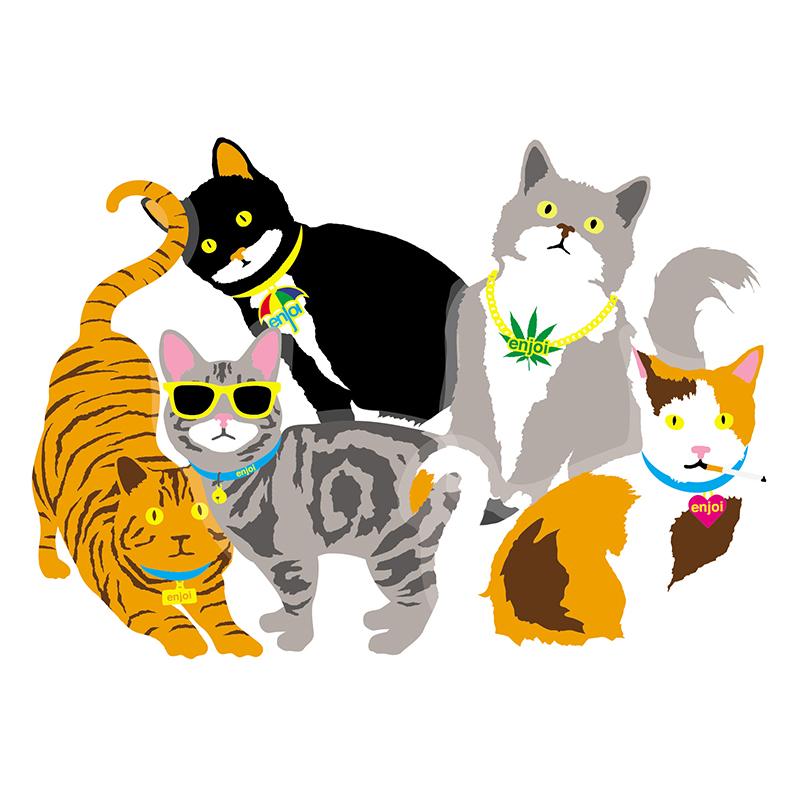 enjoi Cat Assorted Sticker -1 sticker-