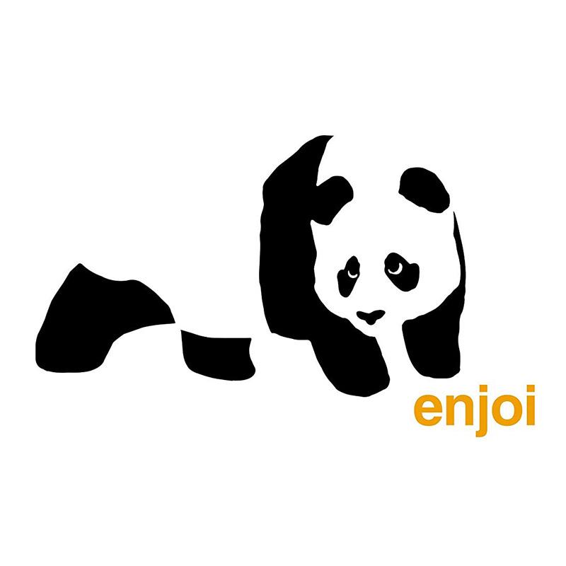 enjoi Panda Logo Sticker White