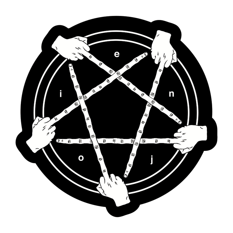 enjoi Satan-Ish Sticker Black/White