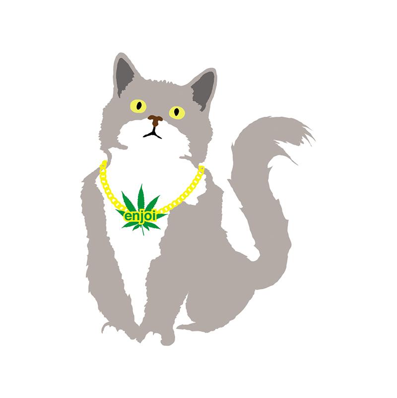 enjoi Weed Cat Single Sticker