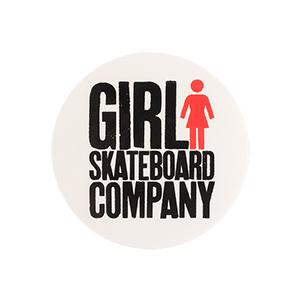 Girl Big Girl Logo Round Sticker M