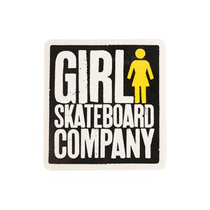 Girl Big Girl Logo Square Sticker M