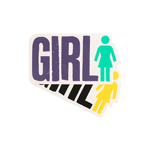 Girl Big Girl Logo Sticker M Assorted Sticker -1 sticker-