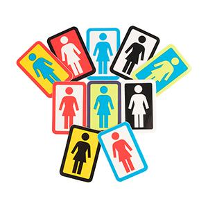 Girl OG Logo Sticker S Assorted Sticker -1 sticker-