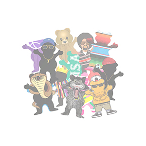 Grizzly Character Sticker Assorted -1 sticker-