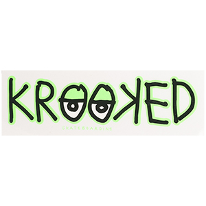 Krooked Eyes Sticker Green M