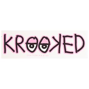 Krooked Eyes Sticker Pink M