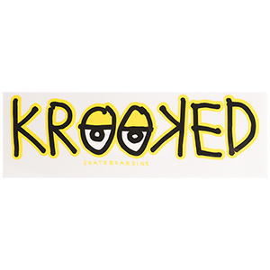 Krooked Eyes Sticker Yellow M