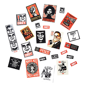 Obey Sticker Pack 4 Assorted