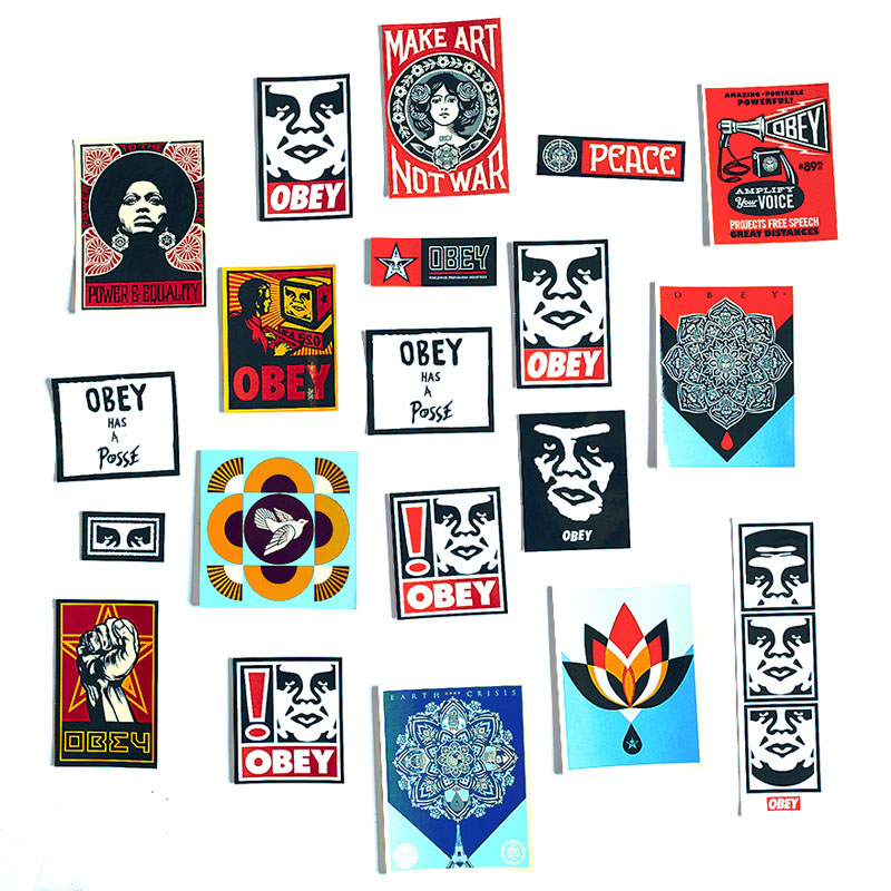 Obey Sticker Pack 5 Assorted 20+ stickers