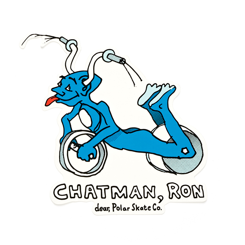 Polar Ron Chatman Pro Sticker Cyan