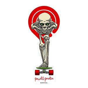 Powell Peralta Tucking Skeleton Sticker 3.65 Inch