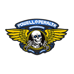 Powell Peralta Winged Ripper Blue Sticker 5.0 Inch