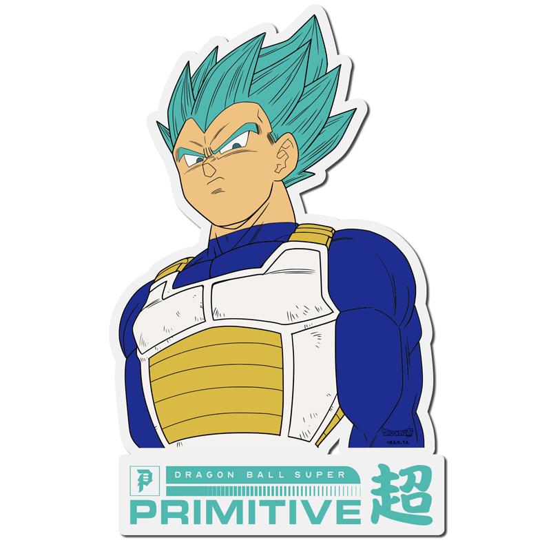 Primitive x DBS Vegeta Classic Sticker Clear