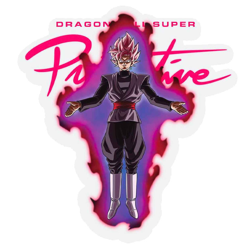 Primitive X Goku Black Rose Nuevo Sticker Pink