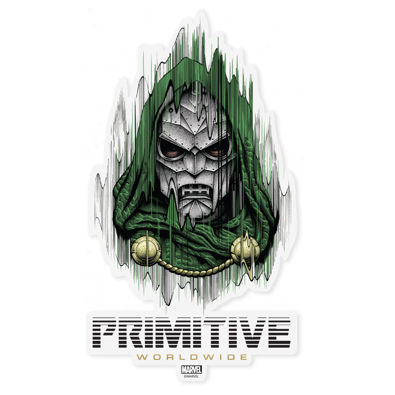 Primitive x Marvel x Paul Jackson Doctor Doom Die Cut Sticker Multi