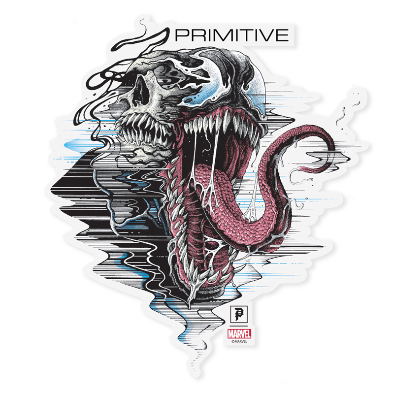 Primitive x Marvel x Paul Jackson Venom Die Cut Sticker Multi
